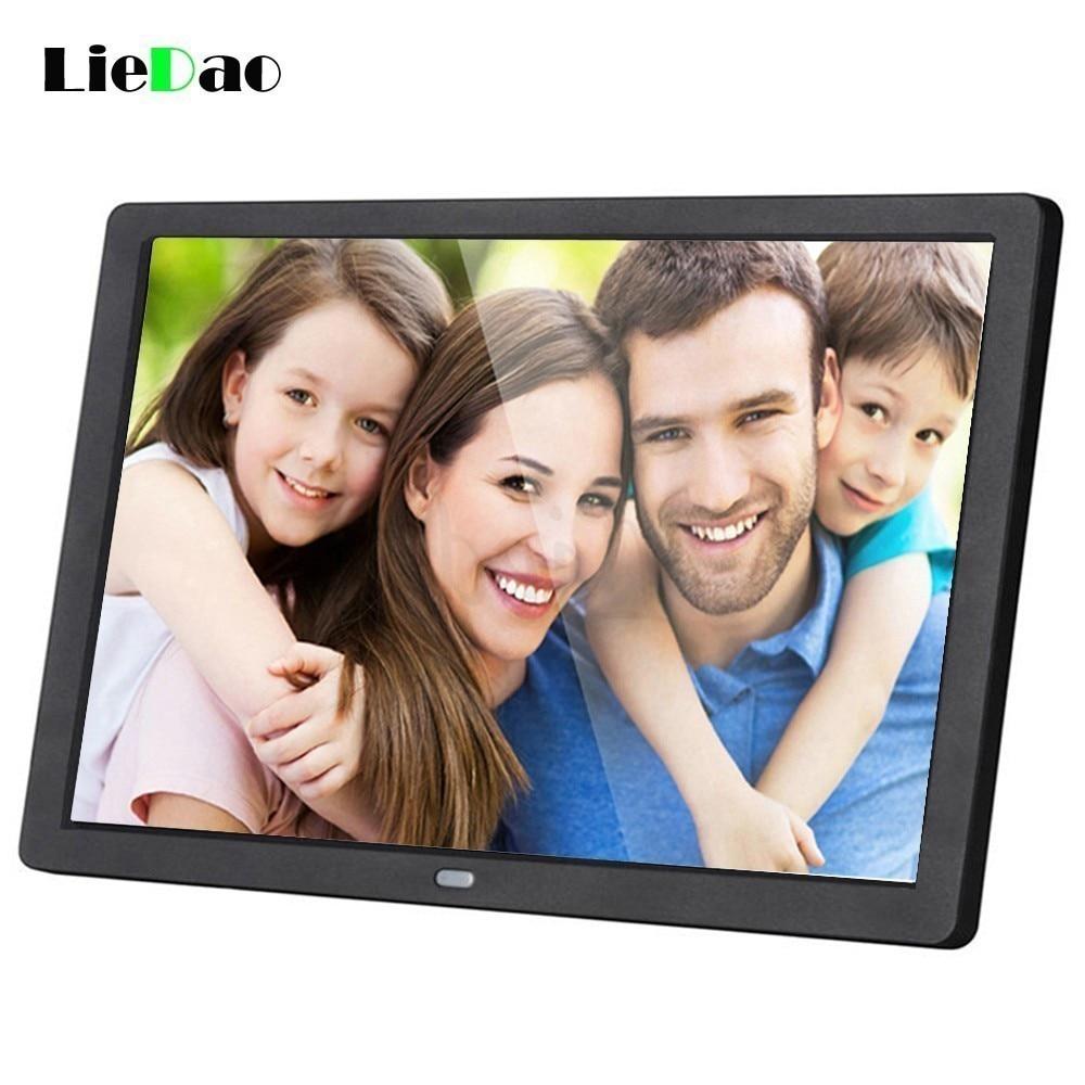 LieDao 15,6 pulgadas LED marco de fotos Digital retroiluminación HD 1280*800 álbum electrónico función completa foto música Video buen regalo