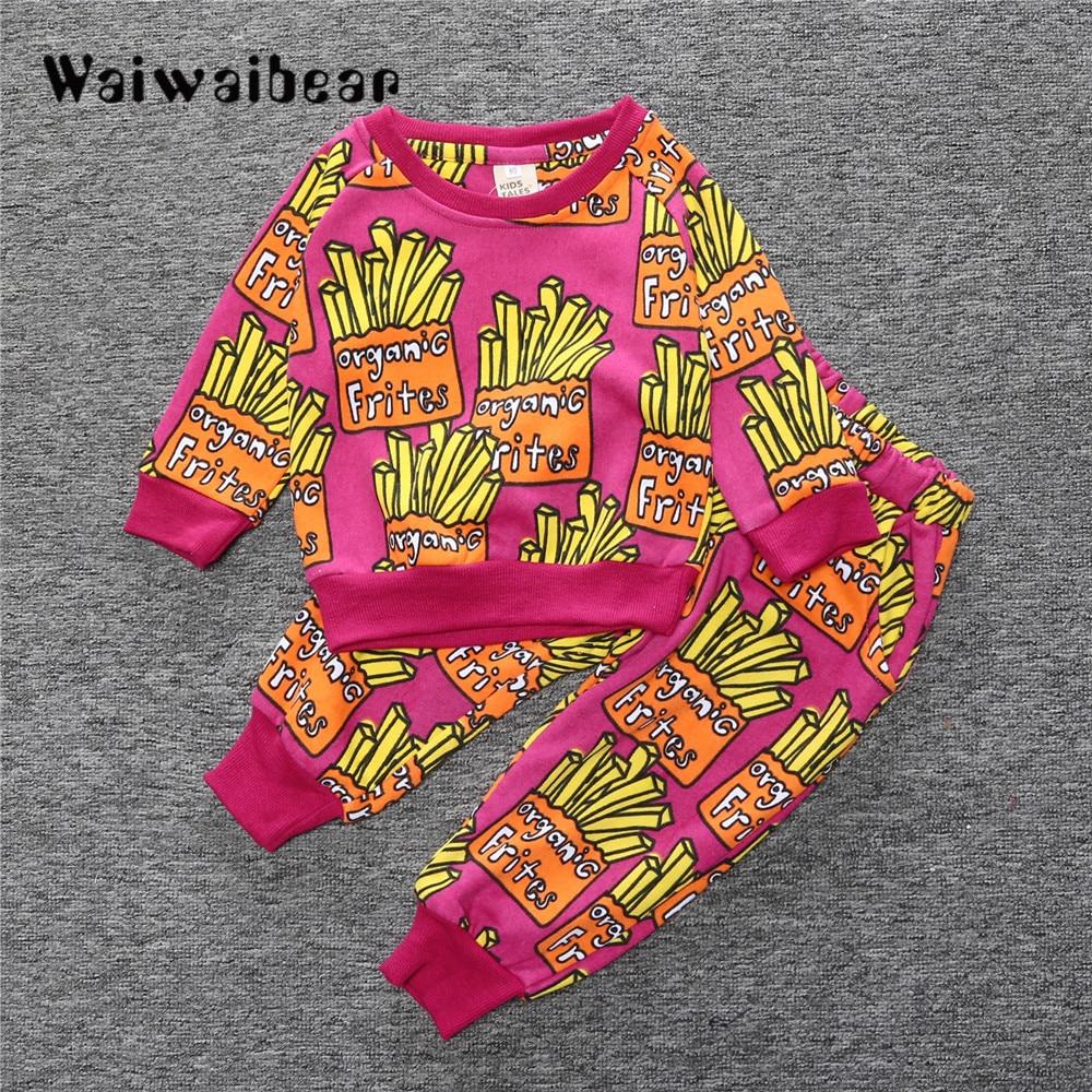 Infant Kids Clothing Sets  Autumn New  Long-sleeved T-shirt+Pants 2PCS Outfit Suit Baby Girls Boys Clothing Set Newborn Clothes 5pcs set newborn infant baby suits boys girls kids clothes sets tops pants bibs hats girl clothing set for baby girls outfit