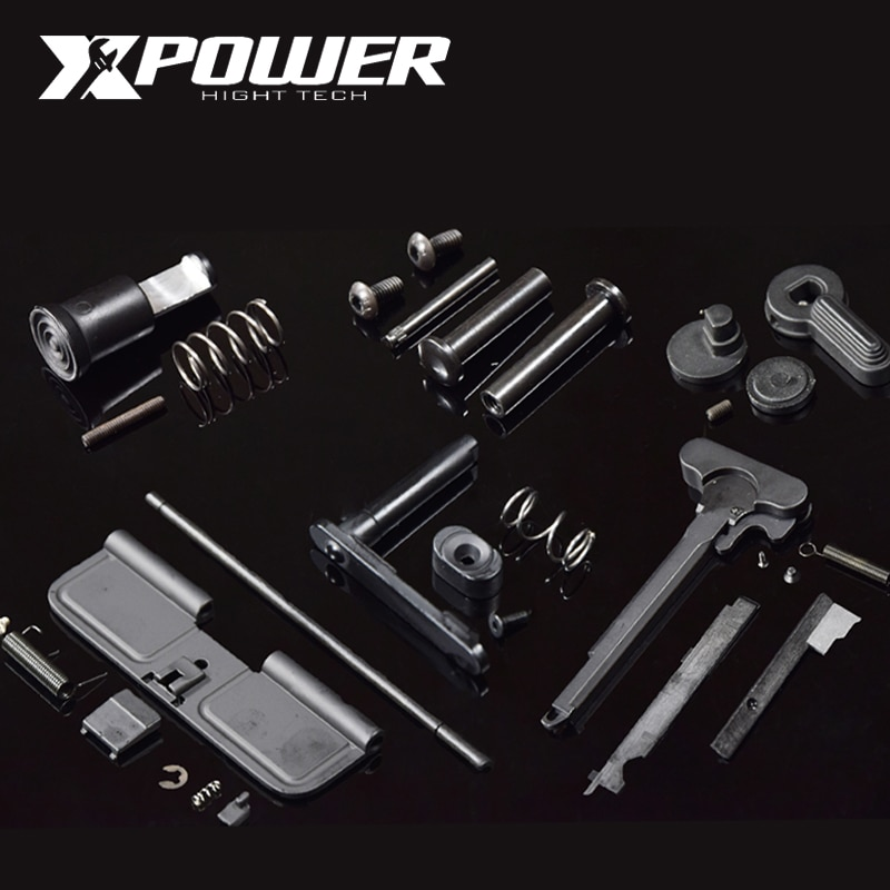 XPOWER Airsoft AEG Paintball Accessori In Metallo Maopul Magzine Rilascio Selettore M4 Ricevitore Cambio Gel Blaster