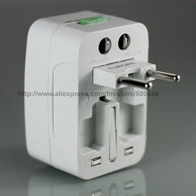 Em todo o mundo Plugue Universal/Universal Conversão Soquete/Plug Adapter Viagem de Alimentação/AC Plug Power 50 Pçs/lote DHL/UPS/EMS Frete Grátis