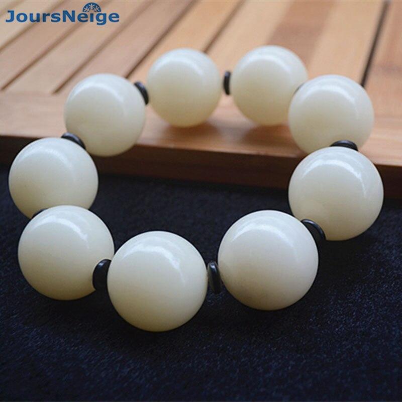 Белые натуральные браслеты Bodhi, мужские модели, модные украшения, семена браслет, аксессуары для мужчин, Будда, ручная нить JoursNeige