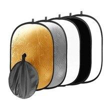 60x90cm 24 ''x 35'' 5 in 1 Multi Disc Fotografie Studio Photo Oval Inklapbare Light reflector houvast draagbare photo disc
