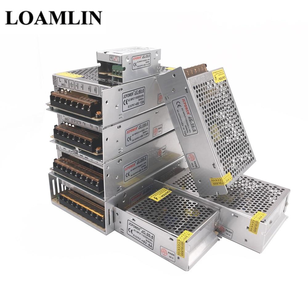 5V 2A/3A/4A/5A/8A/10A/12A/20A/30A/40A Switch LED Power Supply Transformers For WS2812B WS2801 SK6812 SK9822 APA102 LED Strip