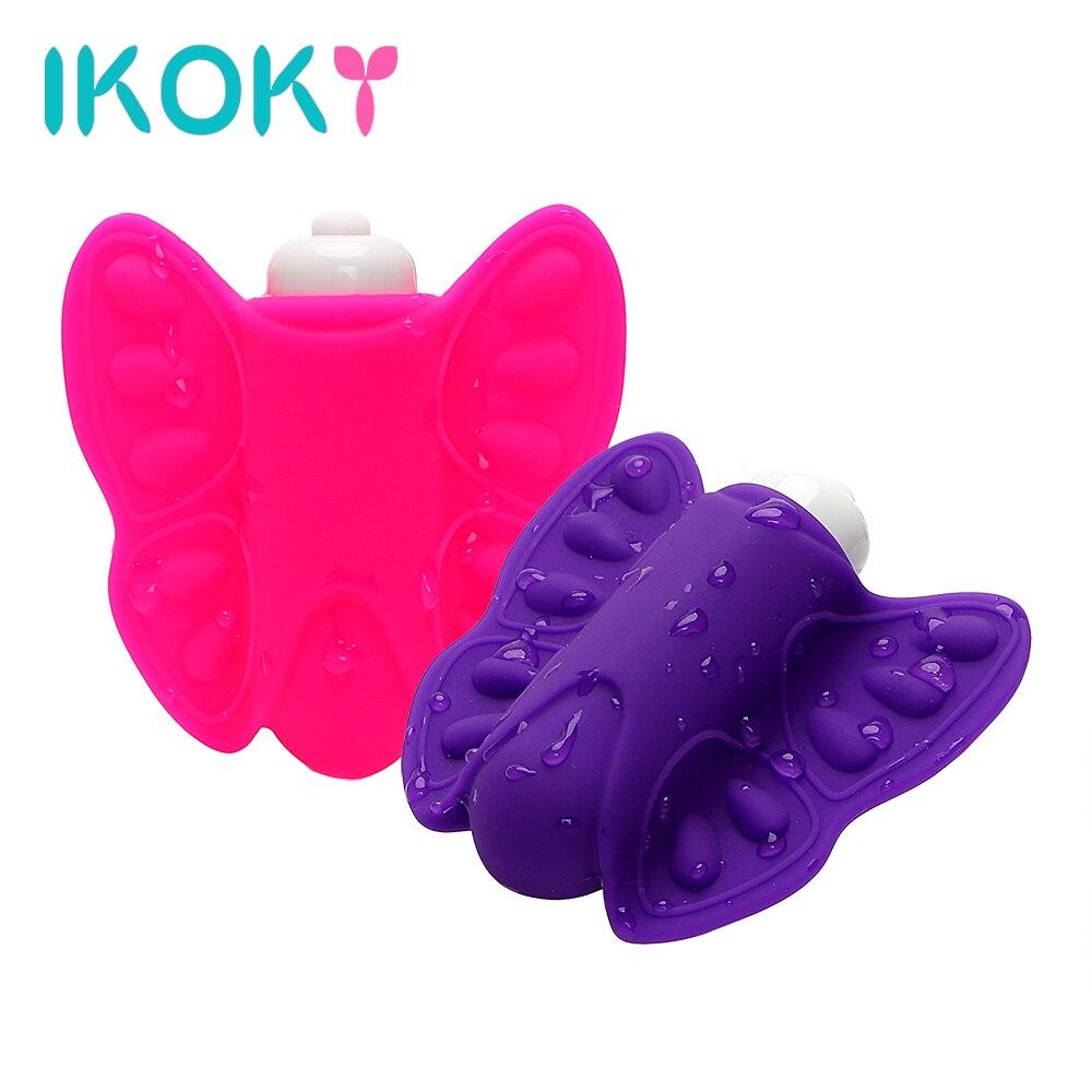 IKOKY, vibrador de mariposa, Juguetes sexuales para mujeres, bragas inalámbricas, ropa interior vibradora, huevos vibradores, estimulador de clítoris, usable