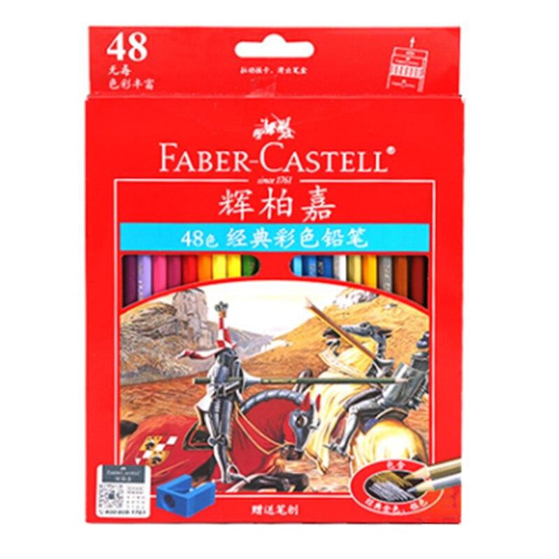 Faber castell 12/24/36/48 cores lápis coloridos não-tóxico lapis de cor profisional para pintura desenho esboço