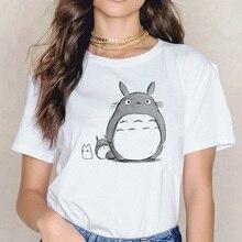 Totoro t shirt Miyazaki Hayao cartoon female clothes femme Anime Spirit Away tshirt Studio Ghibli t-shirt Anime women Japanese
