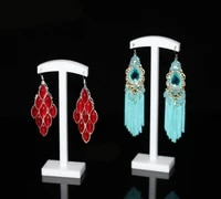 earring display 2 piece earring tree set for jewelry studs acrylic holder stands for business home showcase use white color