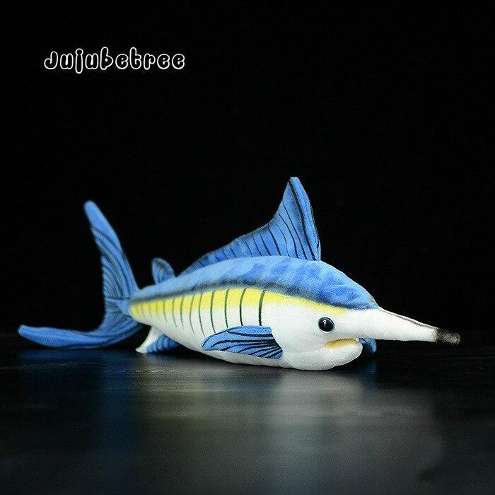 Imitation Blue marlin Makaira mazara plush toy soft stuffed animal fish dolls kids christmas gift 46CM