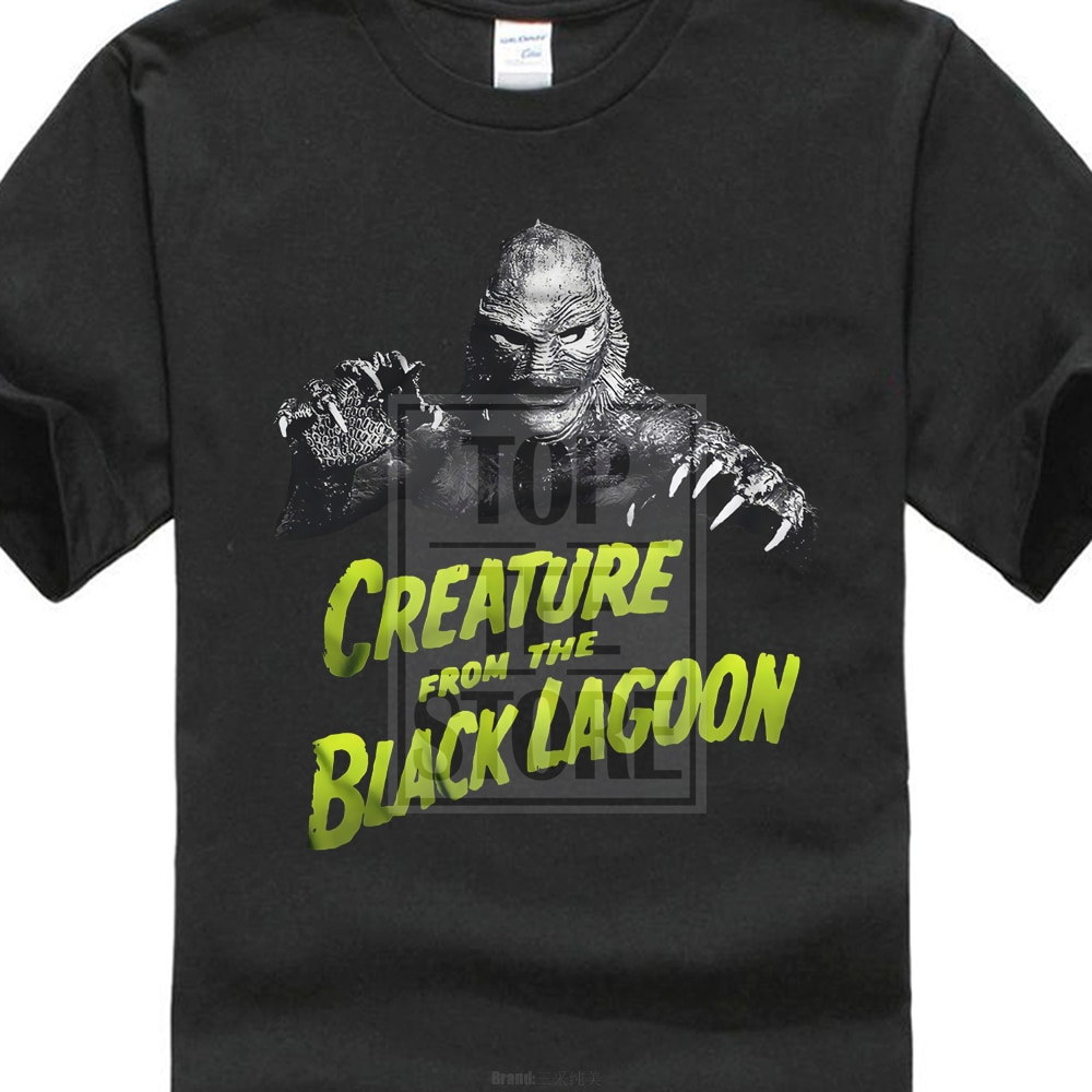 Criatura da lagoa negra t camisa univeral monstros drácula frankenstein
