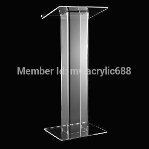 Púlpito muebles envío gratis popularidad moderno diseño atril de acrílico transparente de acrílico podio