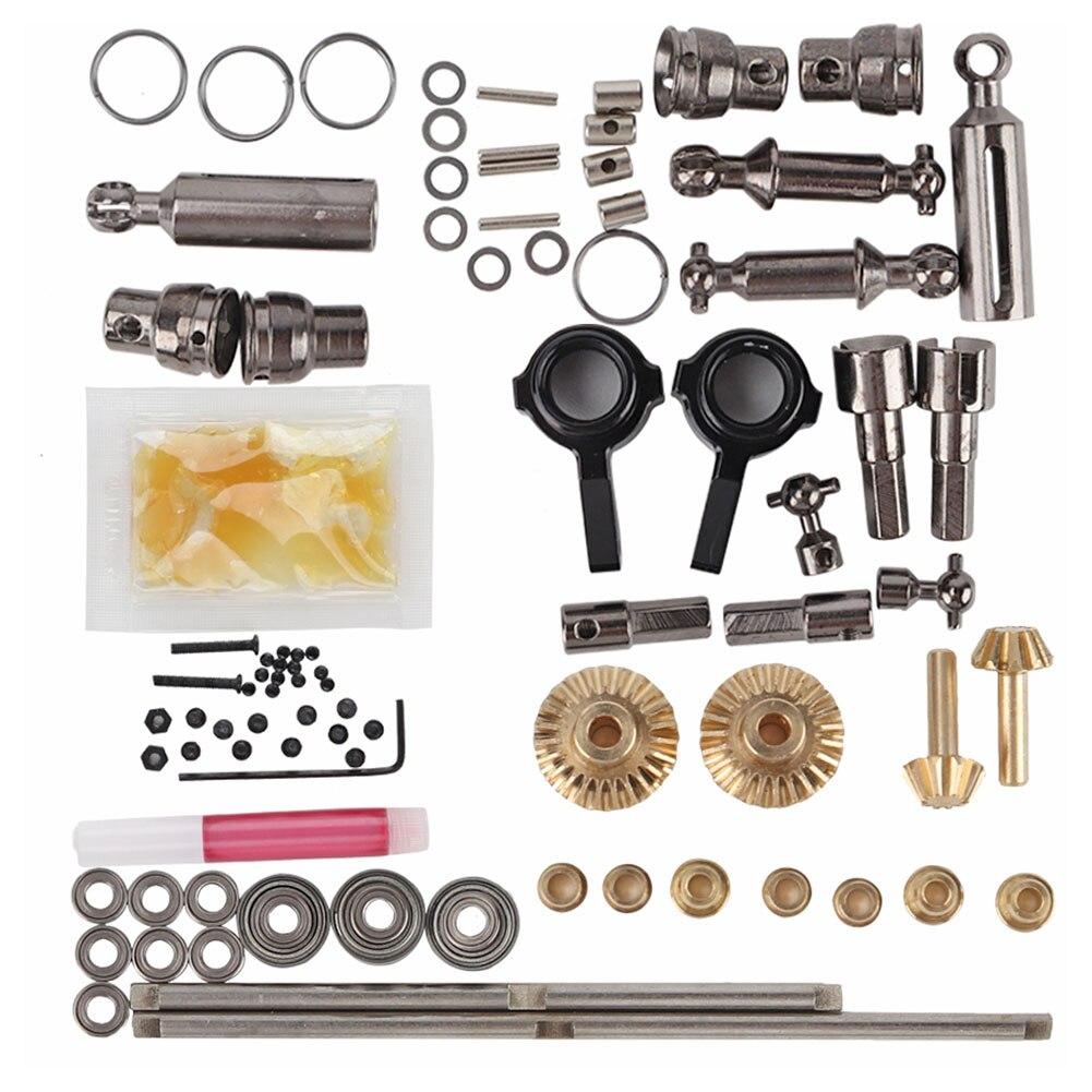 Kit de montaje de camión de juguete de Metal 6x6 1/16 6WD juego completo caja de onda modelo de receptor de tablero DIY piezas de coche RC para accesorios WPL OP