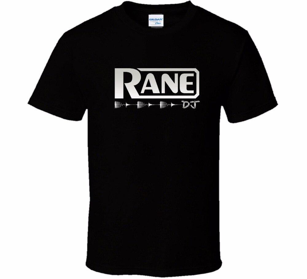 2019 Custom Gedrukt Gepersonaliseerde T-Shirts Print Mannelijke Merk Rane DJ Logo Katoen Korte Mouwen Zwart Movie T-shirt