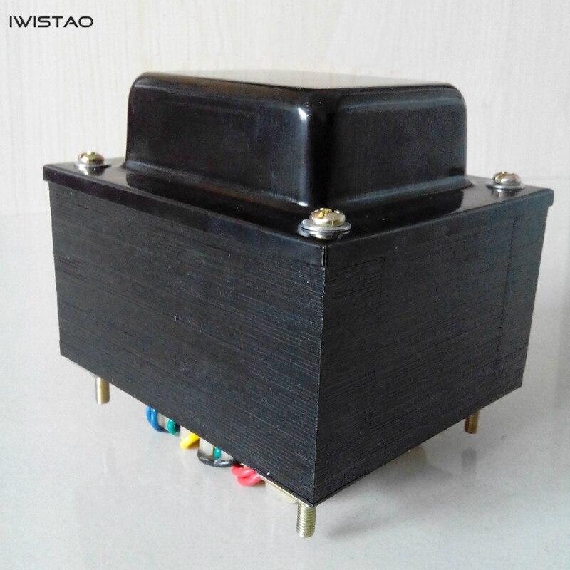 IWISTAO-محول طاقة أنبوب السيليكون ، 270 واط 320V-0-320V 5V 12V 3.15V-0-3.15V ، سلك نحاسي خالٍ من الأكسجين ، HIFI DIY