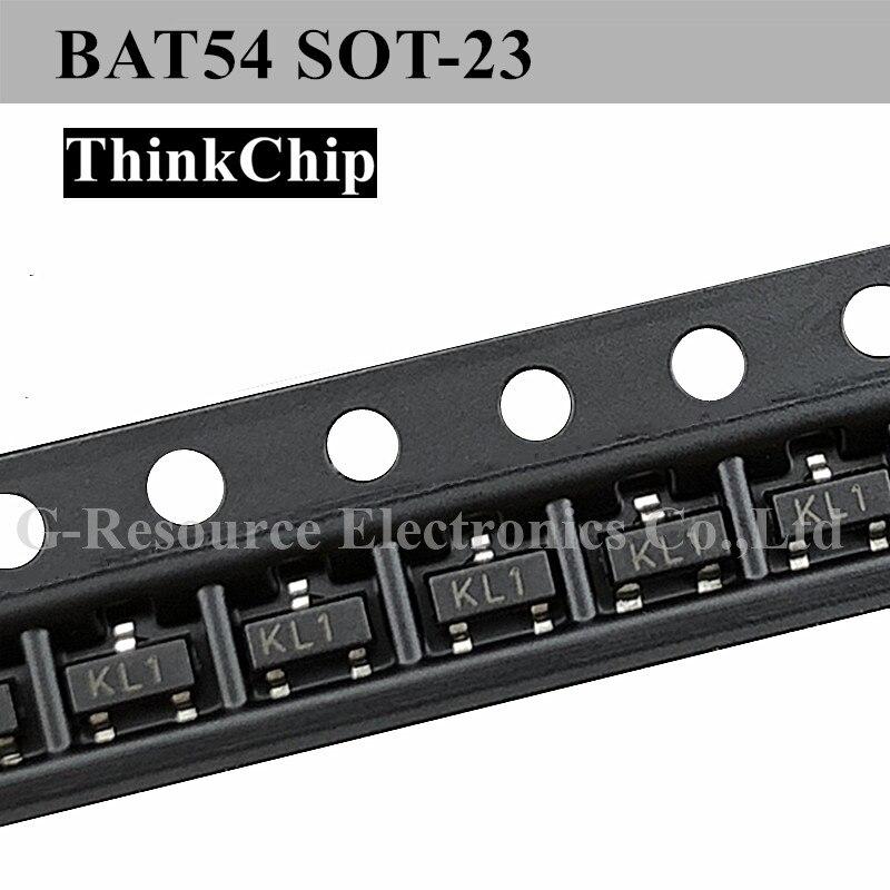(100 шт) BAT54 SOT-23 переключающий плоский диод шмотки (маркировка KL1)