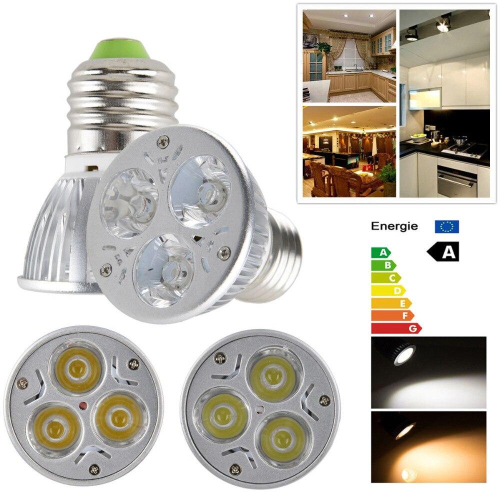 10x3 W E27 E26 PAR16 LED Downlight Lâmpada Lâmpada Quente Cool White Spot Light