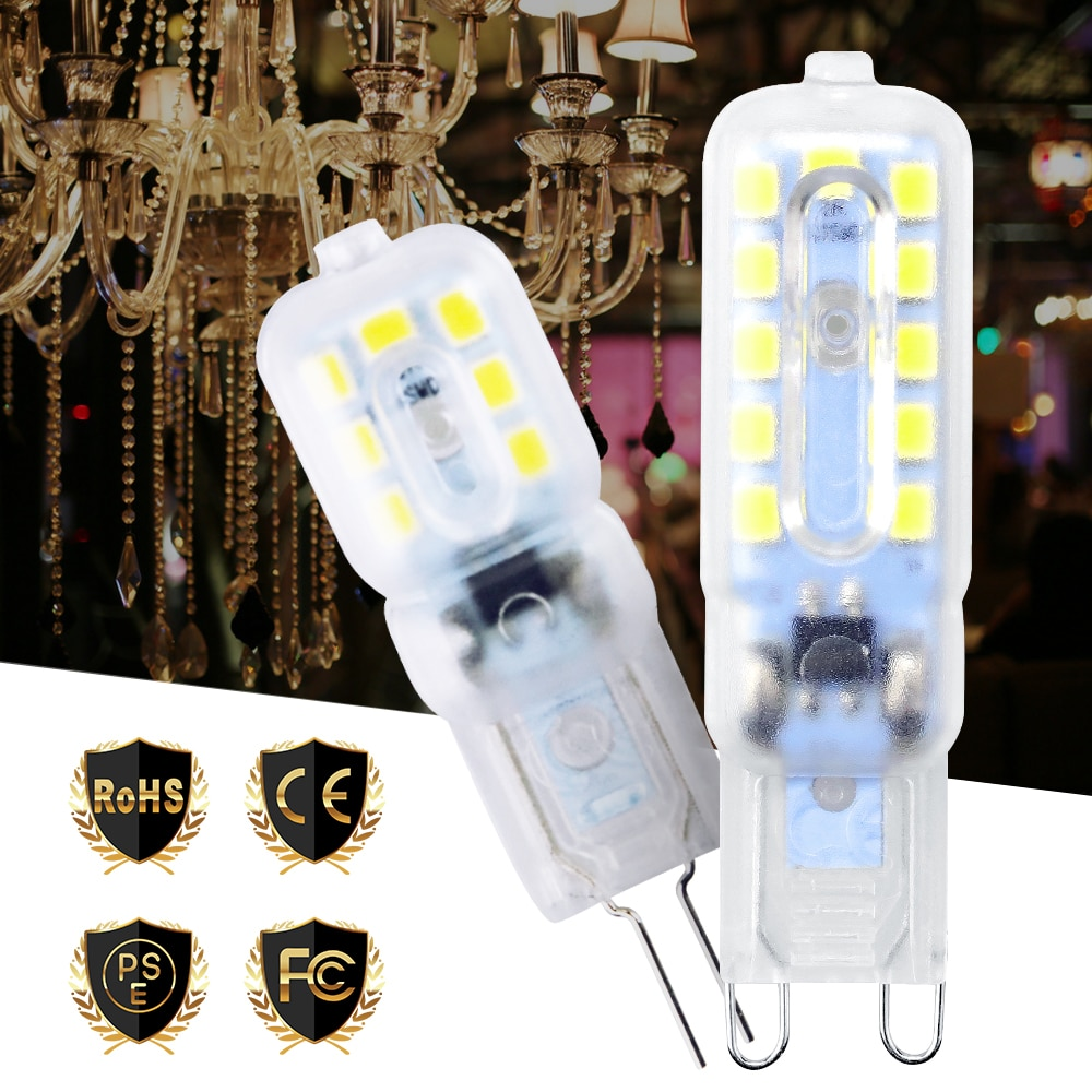 Light Bulb G9 LED Dimmable Corn 5W Bombilla G4 220V Lamp g9 Replace Halogen Chandelier Candle 2835 SMD