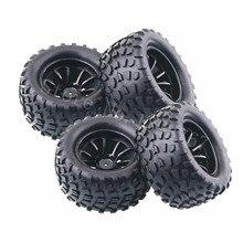 4 teile/los RC Gummi Schwamm Reifen Reifen Felge Rad Für RC 1/10 Skala Modelle RC Auto HSP Off Road Monster lkw 94111 94108 94188
