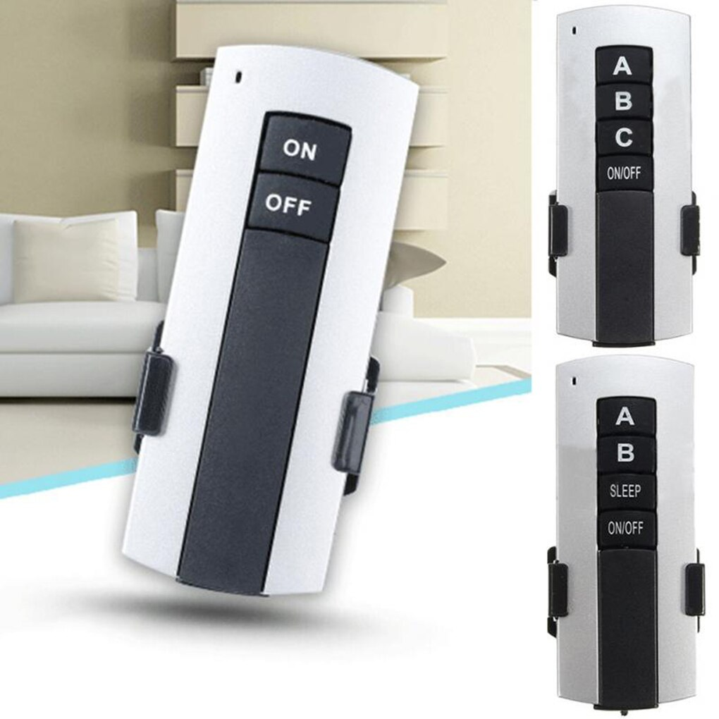 1/2/3 Ways ON/OFF AC 200V-240V Wireless Receiver Lamp Remote Control Switch Wall Light Switch Receiver Transmitter