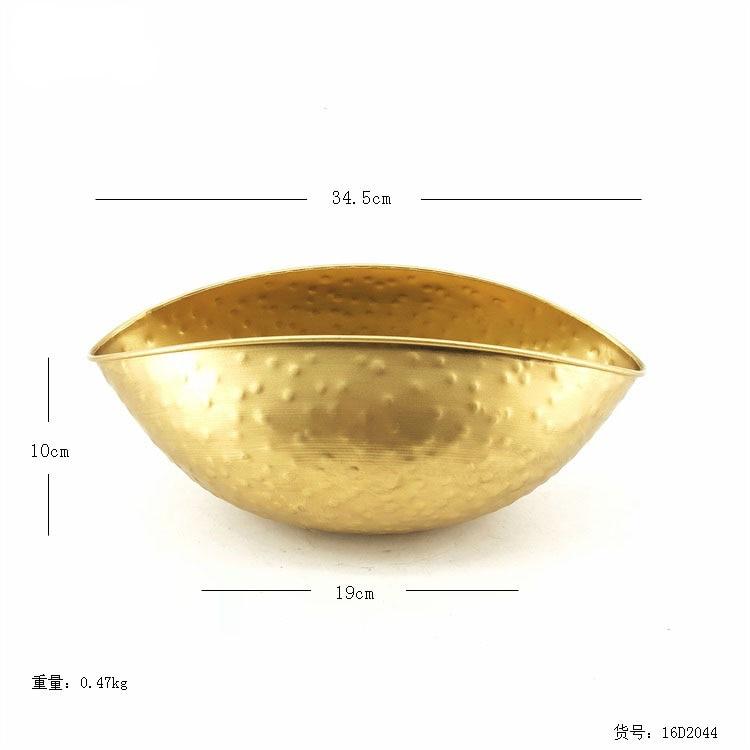 Nuevo jarrón dorado popular ins, tetera de joyería hecha a mano, maceta de flor de hierro dorado, maceta de flor decorativa para Hotel casero, maceta de Orquídea