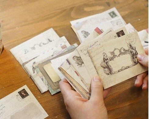 12pcs/lot  100*80mm New Vintage European style mini envelope school office supplies недорого