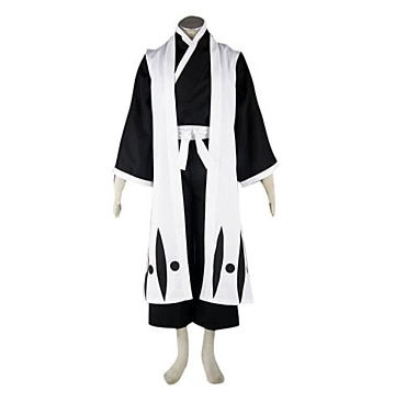 Inspired by Cosplay BLEACH Hitsugaya Toushirou AnimeCostumes Suits / Kimono Patchwork White Long SleeveKimono Coat / Vest / Haka