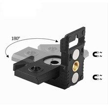 """1/4"""" port laser level bracket leveling super strong iron magnet adsorption bracket for laser levels laser level tripod"""