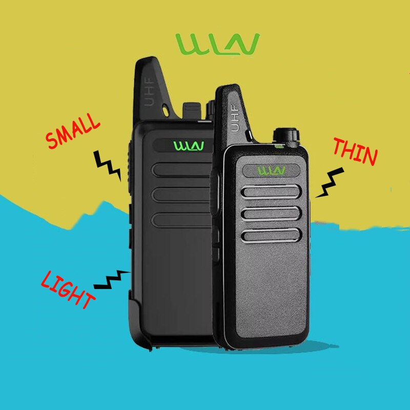 2PCS WLN C1 Handheld Walkie Talkie Portable Radio profession Handheld Two Way Radio Communicator HF Transceiver cb walkie-talkie enlarge