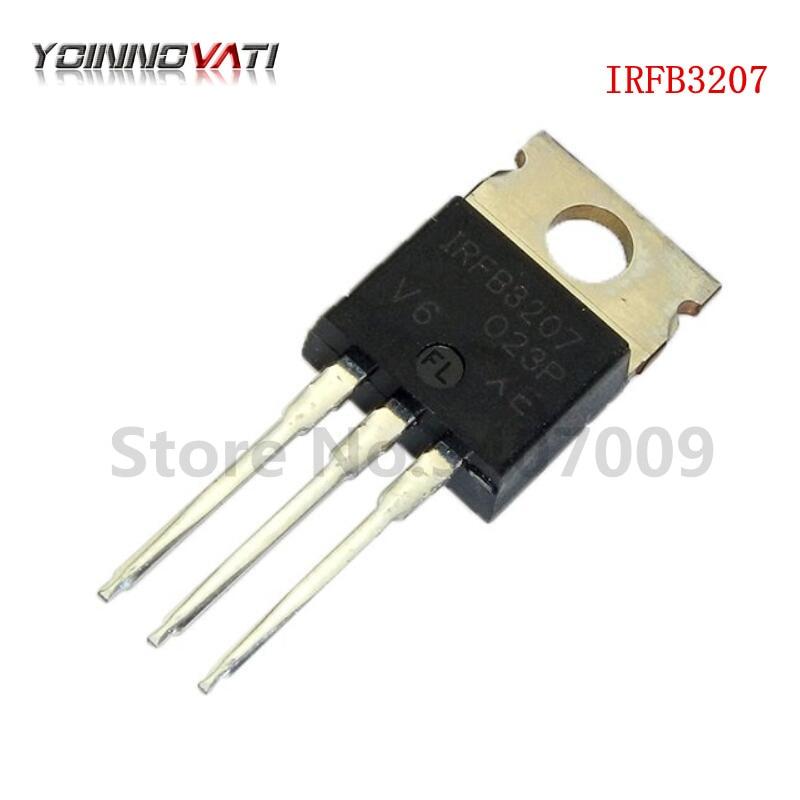 10 piezas IRFB3207PBF IRFB3207-3207 a-220 MOSFET MOSFT 75 V 180A 4,5 mOhm 180nC original nuevo envío gratis