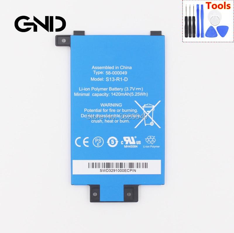GND 1420 mAh/5.25Wh 3,7 V MC-354775-05 S13-R1-D 58-000049 para Amazon Kindle PaperWhite 2/3 KPW2 KPW3 batería de polímero de litio