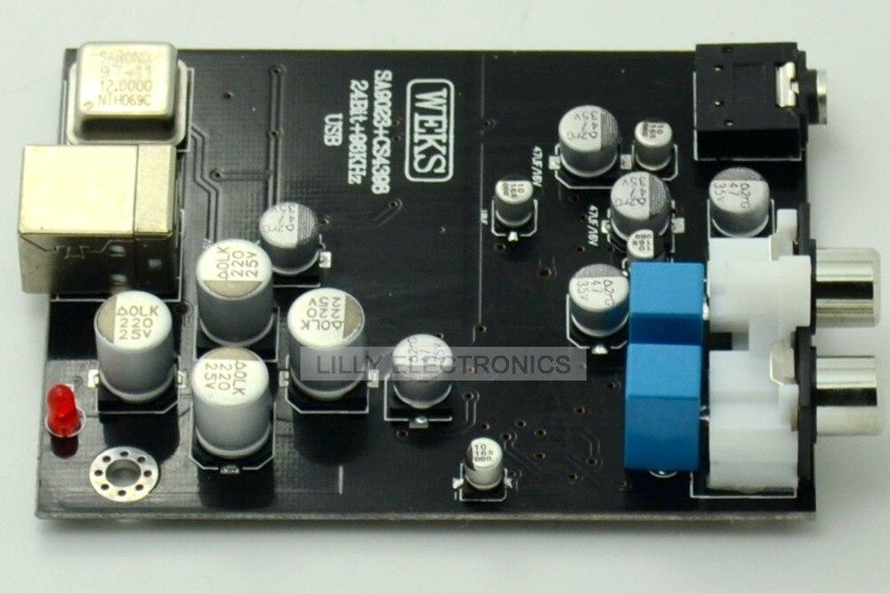 USB 2,0 SA9023 + CS4398 + OPA2132 tarjeta decodificador USB 24BIT 96 KHz