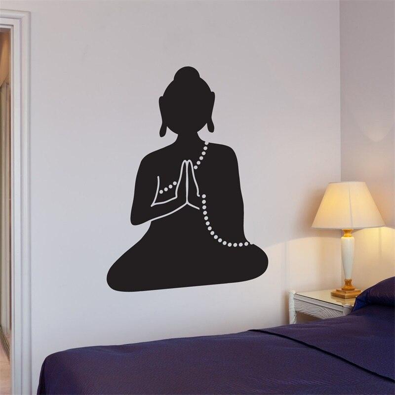 Wall Decal Buddha Meditation Buddhist Monk Yoga Vinyl Stickers