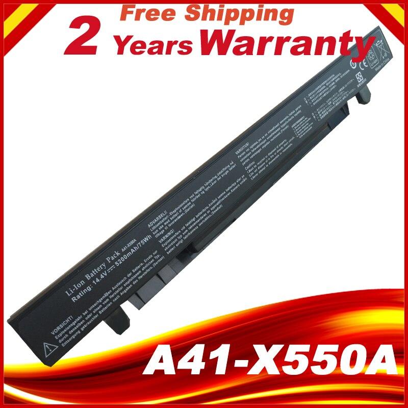 Аккумулятор 5200 мАч для Asus X550CC A41-X550A A41-X550 X550 X550C X550B X550V X550D X450C X452