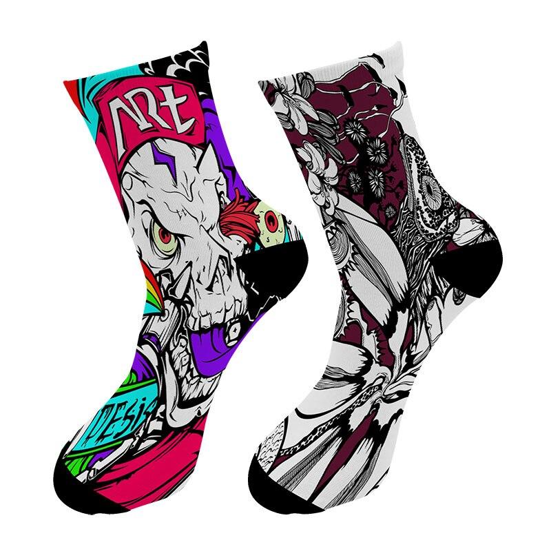 Новинка, Длинные мужские носки с 3d-рисунком кистей, уличные граффити, масляные краски, длинные носки, индивидуальный узор, мужские классичес...