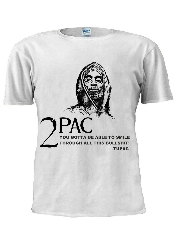 2Pac Tupac Shakur Hip Hop Rap camiseta Top 2019 Venta caliente nuevo hombres nueva moda hombres camiseta Marca Ropa