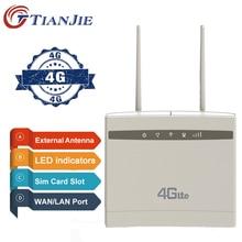 TianJie 4G 라우터/CPE Wifi 중계기/모뎀 광대역 SIM Solt Wi fi 라우터 게이트웨이 PK Huawei B525 B525S-65a Xiaomi/mi 라우터