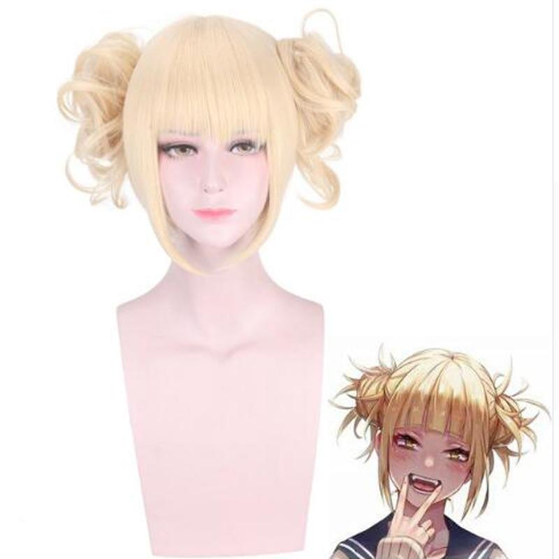 Boku no Hero Academia Cross My Body Wig Cosplay Costume My Hero Academia Himiko Toga Synthetic Hair Party Role Play Wigs + Cap