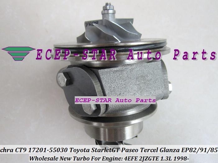Free Ship CT9 Turbo CHRA Cartridge Core 17201-55030 17201-64190 For TOYOTA Starlet 4EFE 4EFTE EP82 EP91 EP85 1.3L 2JZ-GT 2JZGT