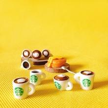 10 pcs kopjes koffie/poppenhuis/miniaturen/mooie leuke/fairy garden gnome/mos terrarium decor /bonsai/figurine/speelgoed/model