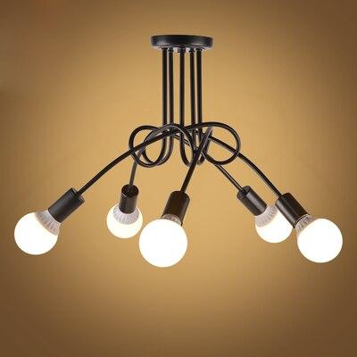 Luzes de teto do vintage iluminação teto preto personalidade criativa lâmpadas teto luminárias sala estar luminaria lustre