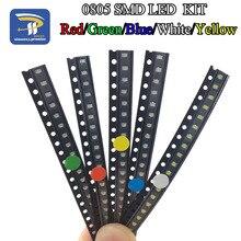 100 sztuk/partia 5 kolorów SMD 0805 Led DIY kit ultra jasny czerwony/zielony/niebieski/żółty/biały woda wyczyść dioda Led zestaw