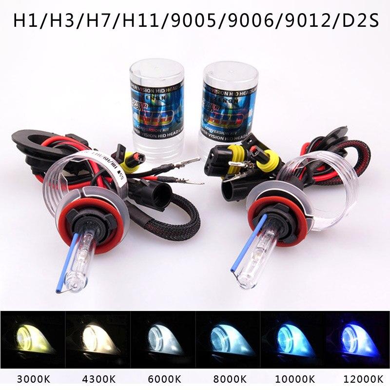 2 stücke 35W 55W Xenon D2H HID Conversion Kit H1 H7 H11 9005 Birne Auto Auto Scheinwerfer Lampe 3000k 4300K 6000k 8000K 12000K
