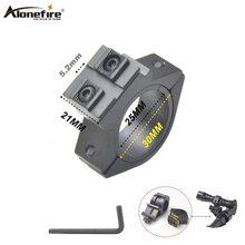 "AloneFire 25.4mm 1 Inch 1 ""Scope Mount 20mm/21mm Picatinny Weaver Rail Jacht Accessoires Fiets fiets Licht Lamp Clip Mount"