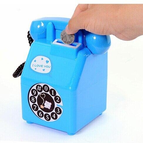 Alcancía de moneda de teléfono Retro