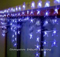 GOOD!LED christmas light showcase decoration 90pcs blue five pointed star bead curtain lamp H171