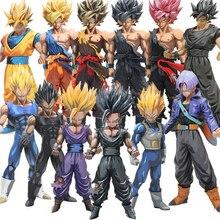 Hot Dragon Ball Z 23-34 cm Manga Abmessungen Vegeta Sohn Goku Sohn Gohan PVC Action Figure Master Sterne stück Modell Puppen WX265