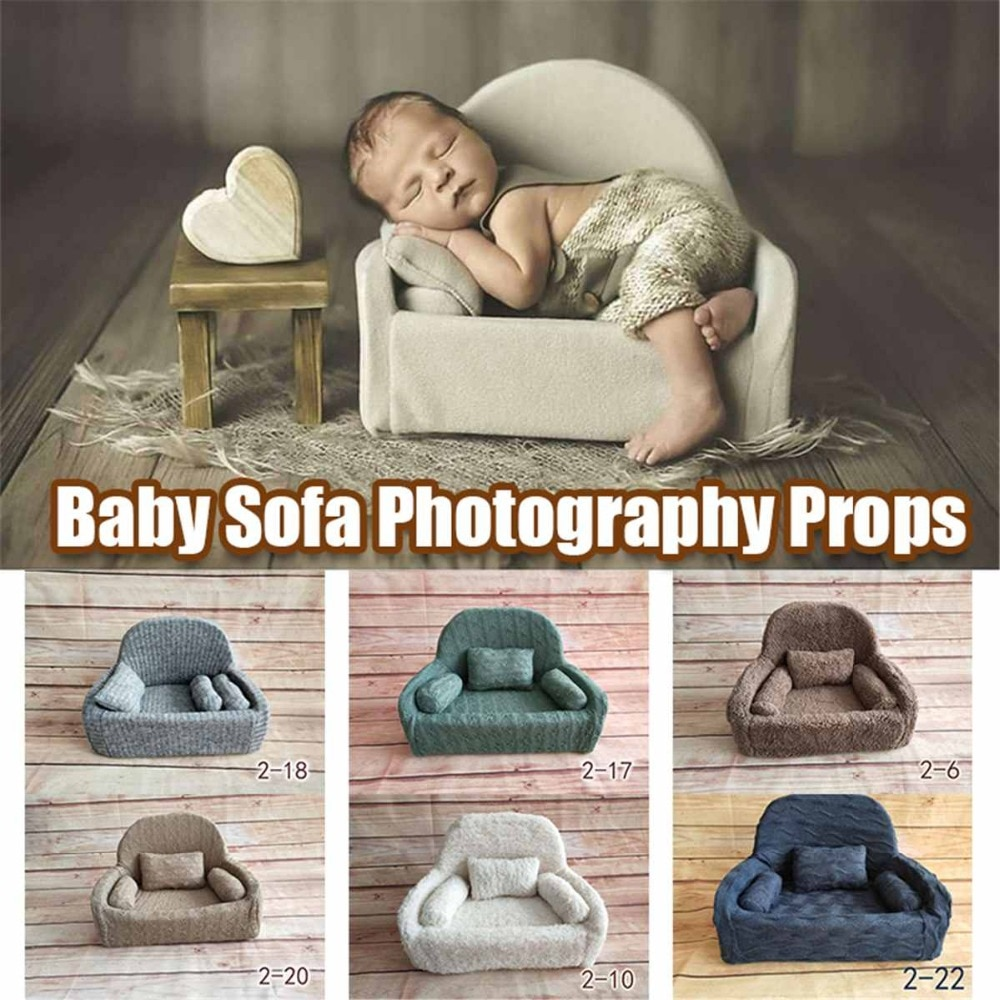 Newborn Photography Props Baby Posing Sofa Pillow Set Photo Studio Baby Photo Chair Decoration Infant Studio Shooting Props