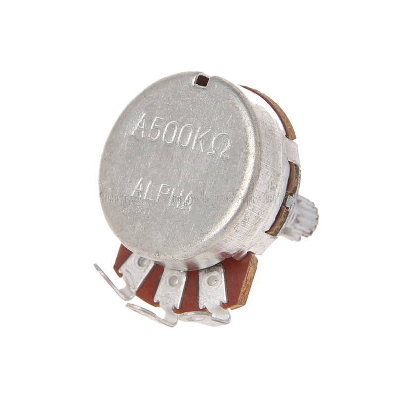 Potenciómetros de guitarra accesorios A500K OHM ollas potenciómetro 24mm Base para reemplazar la guitarra eléctrica N21 dropship