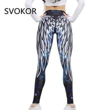 SVOKOR Harajuku 3D aile leggings pour femmes 2018 push up sport fitness legging athloisir musculation sexy femmes pantalons