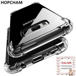 Hopcham ultra fino transparente caso de silicone para samsung galaxy s9 s9 + anti batida tpu caso para samsung s9 s8 mais nota 8coque