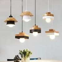 Lampe suspendue en bois et fer au design moderne  luminaire decoratif dinterieur  ideal pour un Bar  un cafe  un Restaurant  un couloir  un couloir  un salon ou une salle a manger